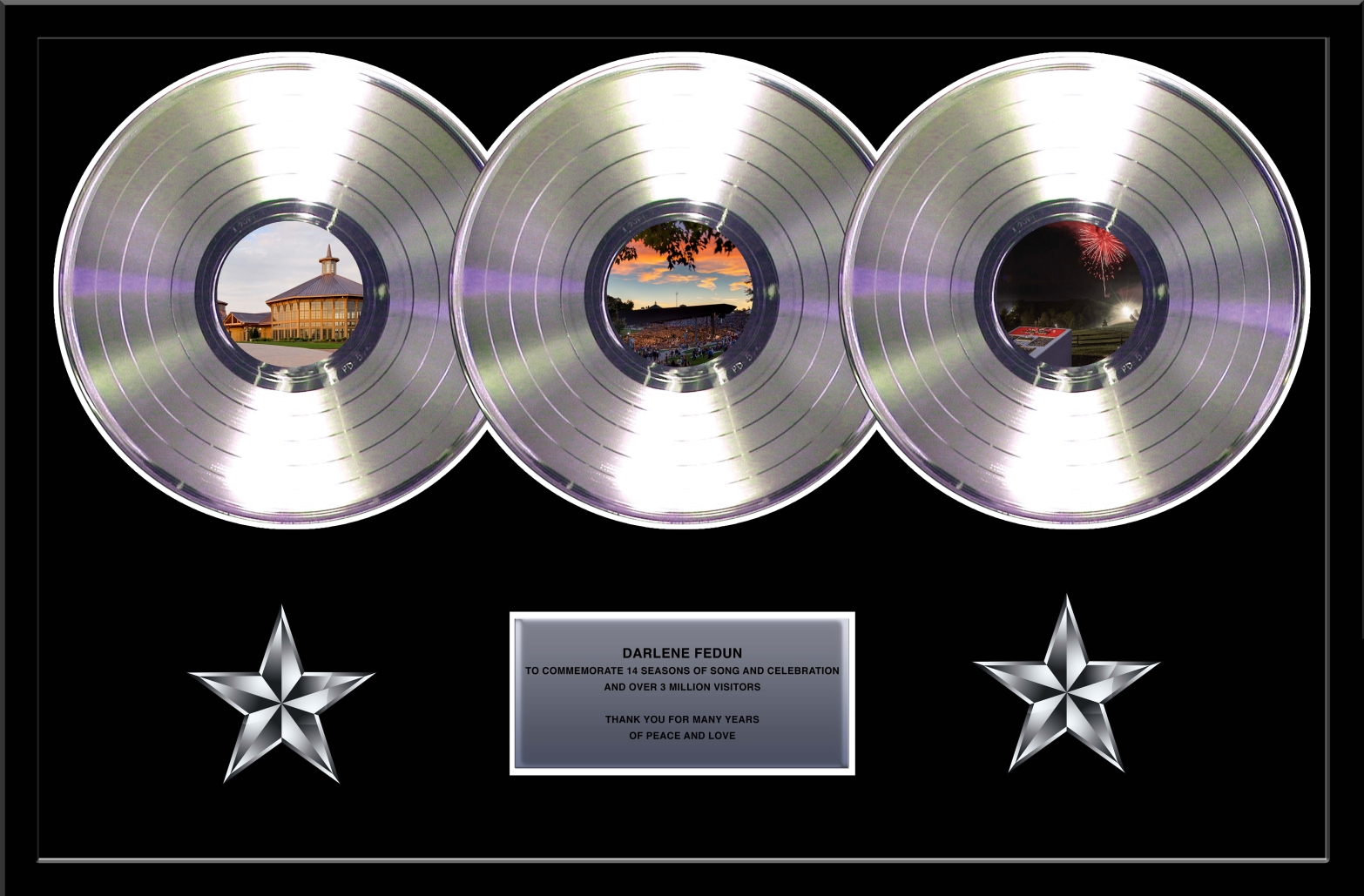 Custom Framed Multiple Record Awards