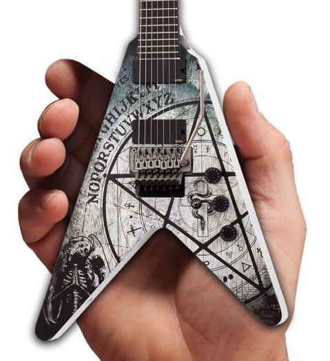 Randy Weitzel Custom Schecter Guitars 335 V-7 FR Electric Mini Guitar Replica by AXE HEAVEN® Closeup