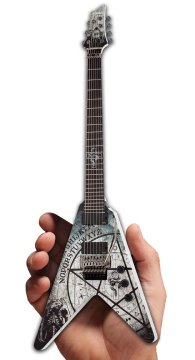 Randy Weitzel Custom Schecter Guitars 335 V-7 FR Electric Mini Guitar Replica by AXE HEAVEN®