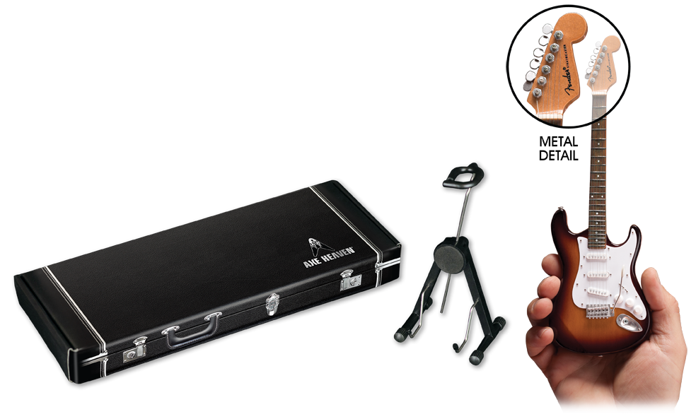 AXE HEAVEN® Mini Guitars include a high-quality adjustable stand & gift box.