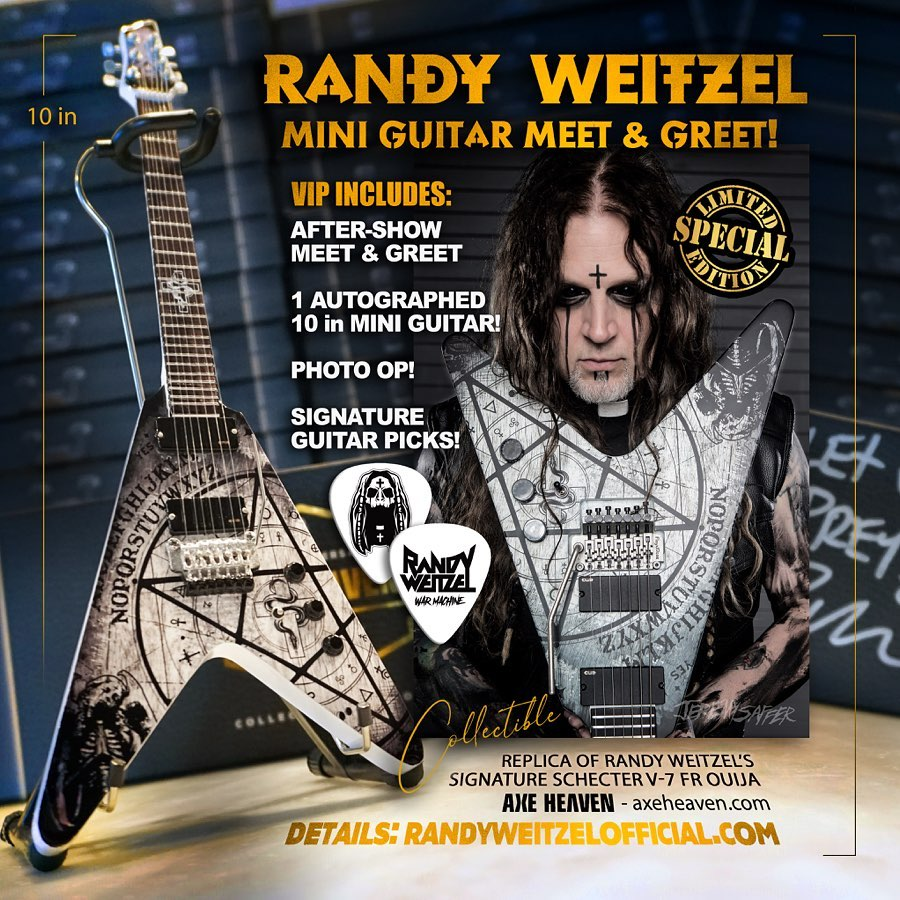 Randy Weitzel Mini Guitar by AXE HEAVEN®