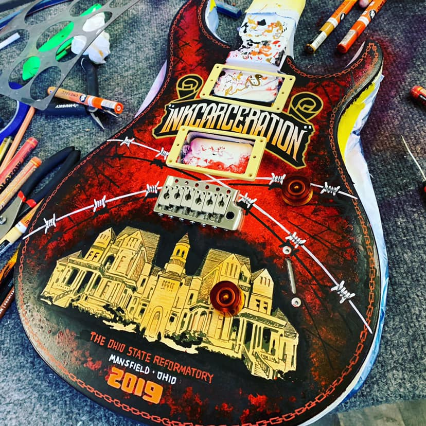 Custom-Painted-Guitar-Inkcarceration-2019