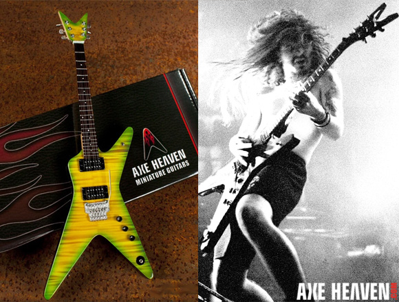 *Dimebag Darrell - an AXE HEAVEN® Exlusive Artist - Licensed Miniature Guitars by AXE HEAVEN®