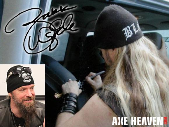 Zakk Wylde - an AXE HEAVEN® Exlusive Artist - Autographing Officially Licensed Zakk Wylde / Wylde Audio Miniature Guitars by AXE HEAVEN®