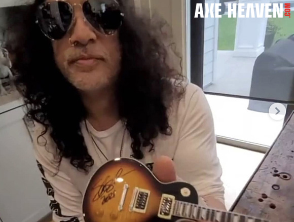 Slash - an AXE HEAVEN® Exlusive Artist - Officially Licensed Gibson™ Les Paul™ Mini Guitar Replica Collectible by AXE HEAVEN®