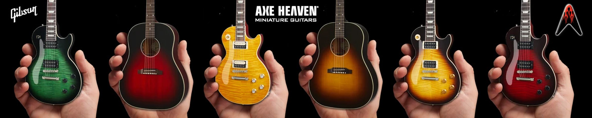 Slash Collection of Licensed Gibson® Mini Guitar Replica Collectibles by AXE HEAVEN®