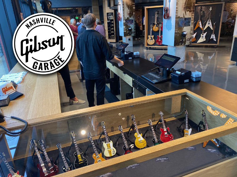 AXE HEAVEN® Mini Guitars displayed in the Gibson Garage - Nashville, TN